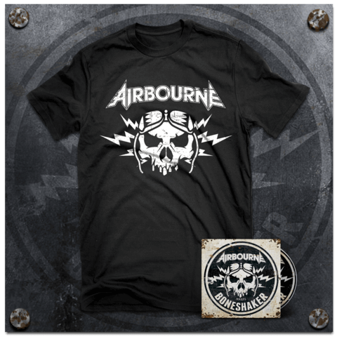 Boneshaker (Ltd Bundle: Ltd. Deluxe Edition + T-Shirt) von Airbourne - CD Bundle jetzt im Spinefarm Shop